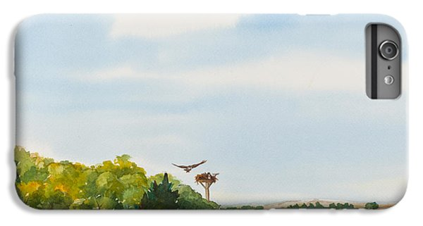 Ospreys On The Vineyard Watercolor Painting IPhone 6s Plus Case by Michelle Wiarda