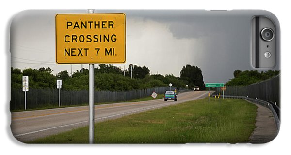 Panther Warning Sign IPhone 6s Plus Case by Jim West