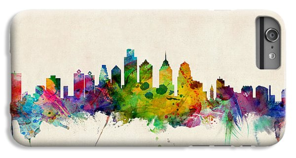 Philadelphia Skyline IPhone 6s Plus Case by Michael Tompsett