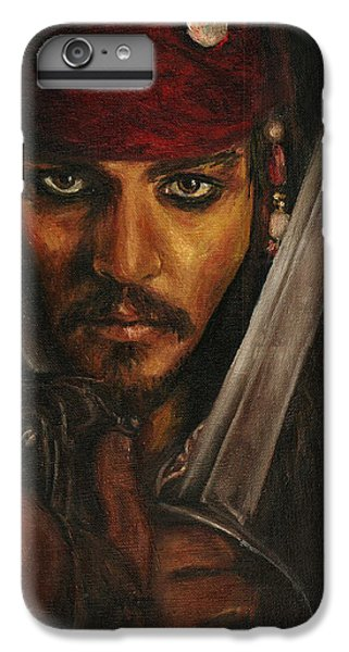 Pirates- Captain Jack Sparrow IPhone 6s Plus Case by Lina Zolotushko