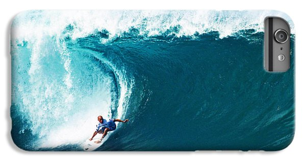 Pro Surfer Kelly Slater Surfing In The Pipeline Masters Contest IPhone 6s Plus Case by Paul Topp