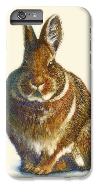 Rabbit IPhone 6s Plus Case by Catherine Noel