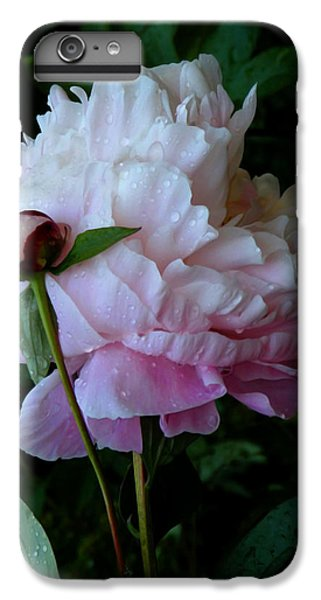 Rain-soaked Peonies IPhone 6s Plus Case by Rona Black