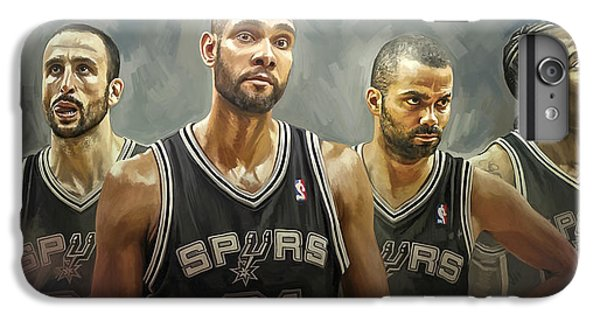 San Antonio Spurs Artwork IPhone 6s Plus Case by Sheraz A