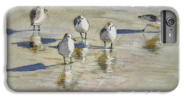 Sandpipers 2 Watercolor 5-13-12 Julianne Felton IPhone 6s Plus Case by Julianne Felton