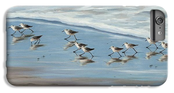 Sandpipers IPhone 6s Plus Case by Tina Obrien