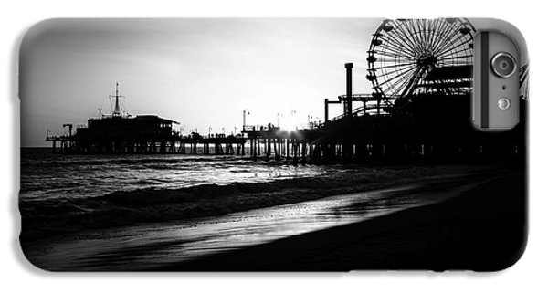 Santa Monica Pier In Black And White IPhone 6s Plus Case by Paul Velgos