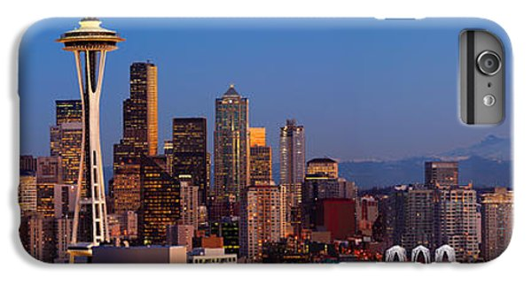Seattle Winter Evening Panorama IPhone 6s Plus Case by Inge Johnsson