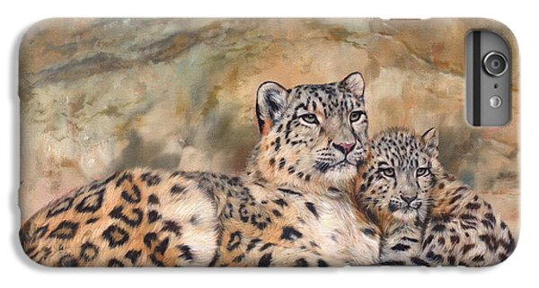 Snow Leopards IPhone 6s Plus Case by David Stribbling