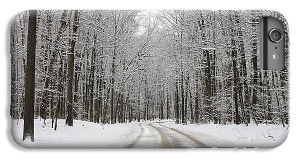 Snowy Road In Oak Openings 7058 IPhone 6s Plus Case by Jack Schultz