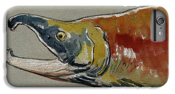 Sockeye Salmon Head Study IPhone 6s Plus Case by Juan  Bosco