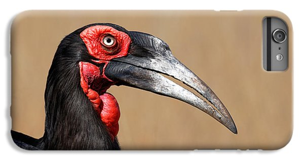 Southern Ground Hornbill Portrait Side View IPhone 6s Plus Case by Johan Swanepoel