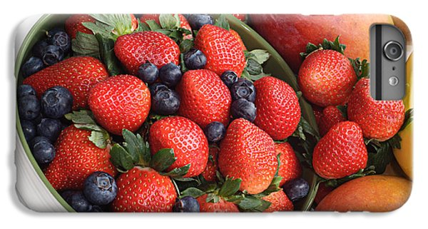 Strawberries Blueberries Mangoes And A Banana - Fruit Tray IPhone 6s Plus Case by Andee Design