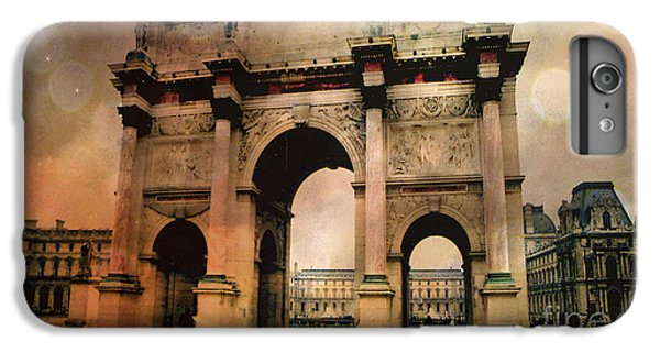 Surreal Paris Arc De Triomphe Louvre Arch Courtyard Sepia Soft Bokeh IPhone 6s Plus Case by Kathy Fornal