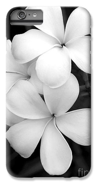 Three Plumeria Flowers In Black And White IPhone 6s Plus Case by Sabrina L Ryan
