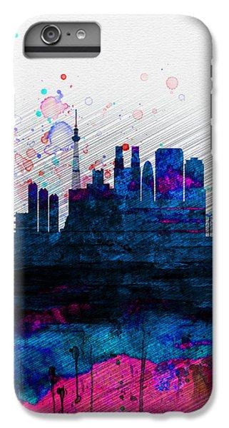Tokyo Watercolor Skyline 2 IPhone 6s Plus Case by Naxart Studio
