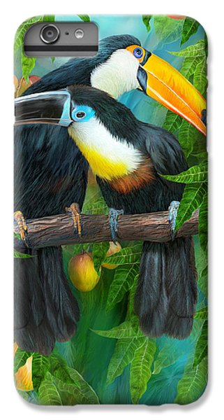Tropic Spirits - Toucans IPhone 6s Plus Case by Carol Cavalaris