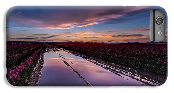 Tulips And Purple Skies IPhone 6s Plus Case by Mike Reid