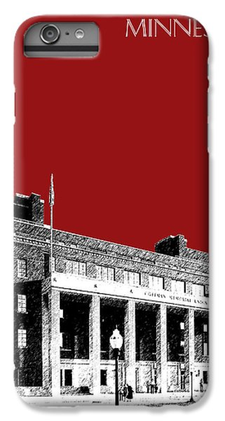 University Of Minnesota - Coffman Union - Dark Red IPhone 6s Plus Case by DB Artist