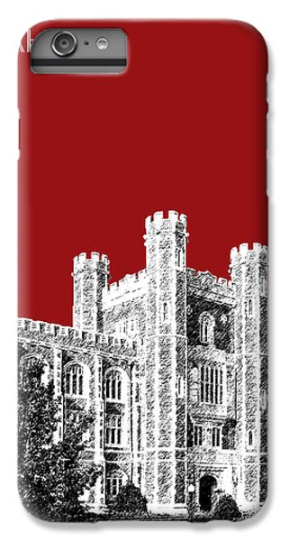 University Of Oklahoma - Dark Red IPhone 6s Plus Case by DB Artist