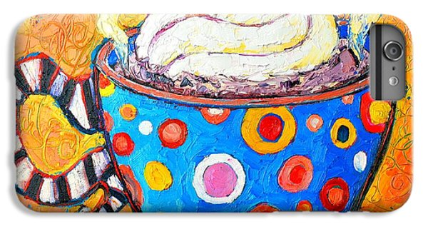 Viennese Cappuccino Whimsical Colorful Coffee Cup IPhone 6s Plus Case by Ana Maria Edulescu