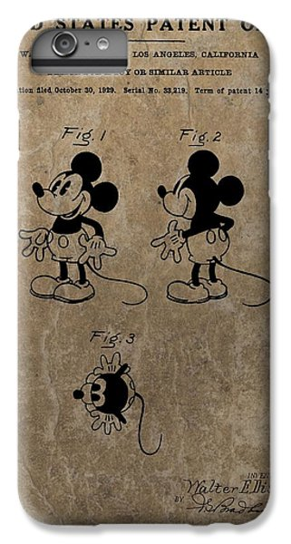 Vintage Mickey Mouse Patent IPhone 6s Plus Case by Dan Sproul