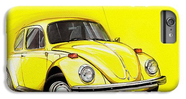 Volkswagen Beetle Vw Yellow IPhone 6s Plus Case by Etienne Carignan
