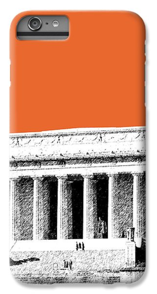 Washington Dc Skyline Lincoln Memorial - Coral IPhone 6s Plus Case by DB Artist