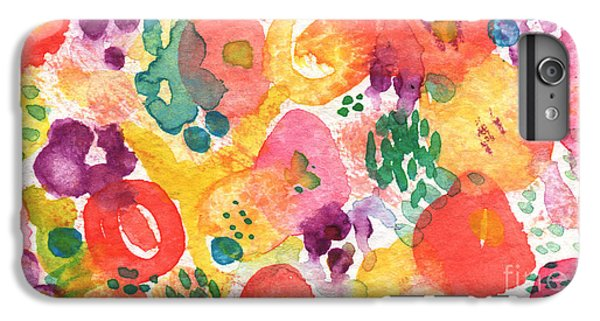 Watercolor Garden IPhone 6s Plus Case by Linda Woods