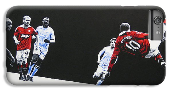 Wayne Rooney - Manchester United Fc IPhone 6s Plus Case by Geo Thomson