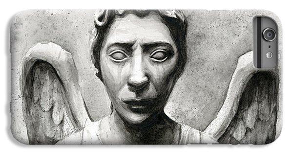 Weeping Angel Don't Blink Doctor Who Fan Art IPhone 6s Plus Case by Olga Shvartsur