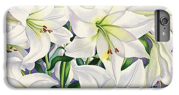 White Lilies IPhone 6s Plus Case by Christopher Ryland