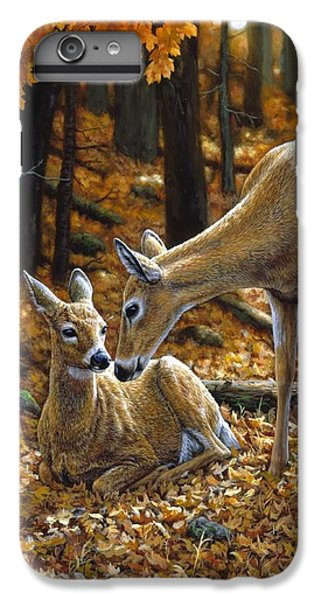 Whitetail Deer - Autumn Innocence 2 IPhone 6s Plus Case by Crista Forest