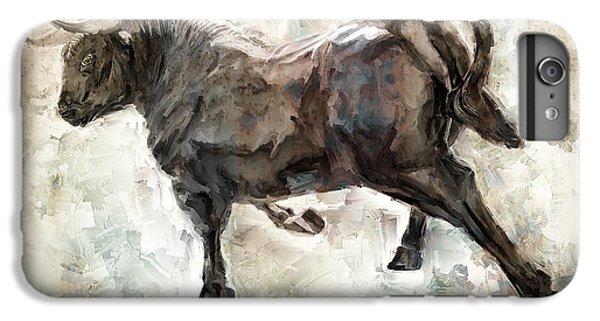 Wild Raging Bull IPhone 6s Plus Case by Daniel Hagerman