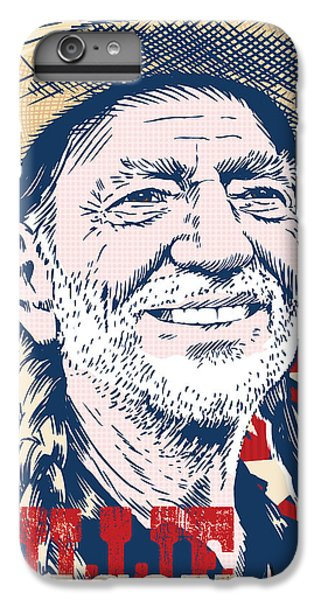 Willie Nelson Pop Art IPhone 6s Plus Case by Jim Zahniser
