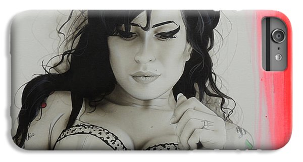 Amy Winehouse - 'winehouse' IPhone 6s Plus Case by Christian Chapman Art