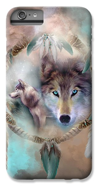 Wolf - Dreams Of Peace IPhone 6s Plus Case by Carol Cavalaris