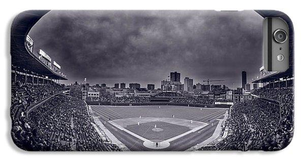 Wrigley Field Night Game Chicago Bw IPhone 6s Plus Case by Steve Gadomski