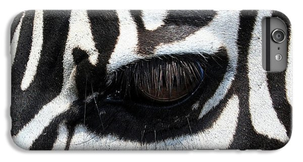 Zebra Eye IPhone 6s Plus Case by Linda Sannuti