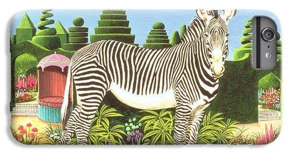 Zebra In A Garden IPhone 6s Plus Case by Anthony Southcombe