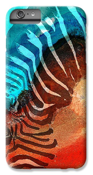 Zebra Love - Art By Sharon Cummings IPhone 6s Plus Case by Sharon Cummings