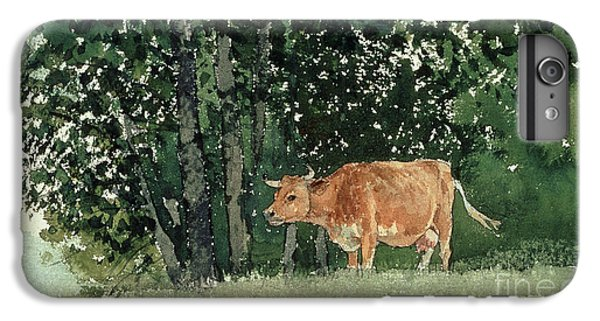Cow In Pasture IPhone 6s Plus Case by Winslow Homer