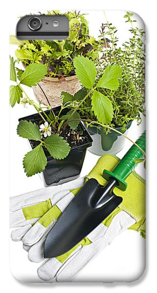 Gardening Tools And Plants IPhone 6s Plus Case by Elena Elisseeva