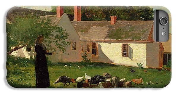 Farmyard Scene IPhone 6s Plus Case by Winslow Homer