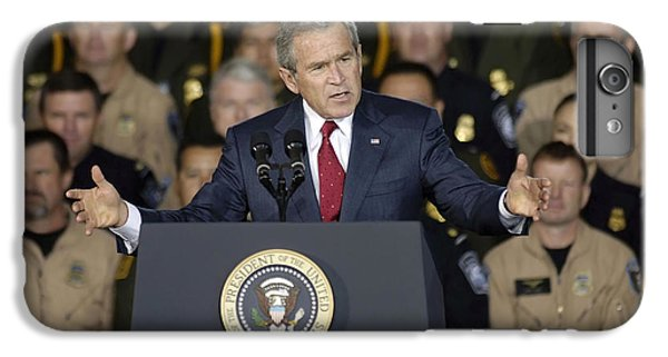 President George W. Bush Speaks IPhone 6s Plus Case by Stocktrek Images