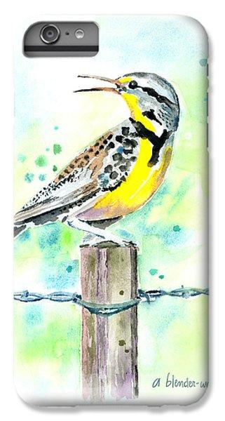 Western Meadowlark IPhone 6s Plus Case by Arline Wagner
