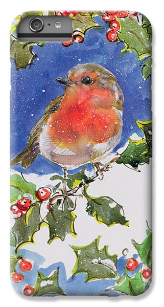 Christmas Robin IPhone 6s Plus Case by Diane Matthes