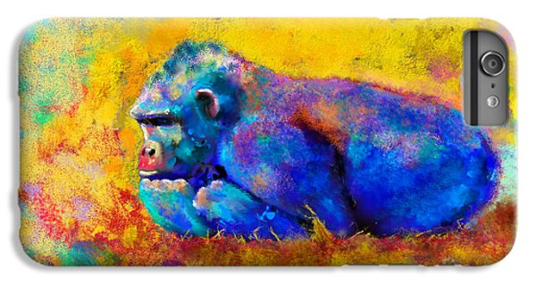 Gorilla Gorilla IPhone 6s Plus Case by Betty LaRue