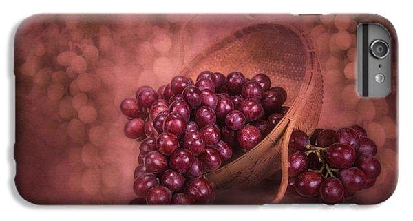 Grapes In Wicker Basket IPhone 6s Plus Case by Tom Mc Nemar