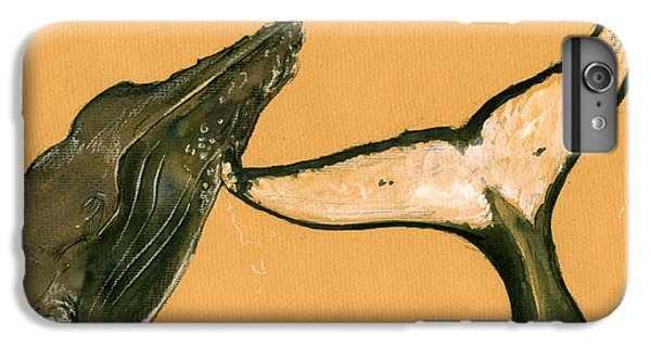 Humpback Whale Painting IPhone 6s Plus Case by Juan  Bosco